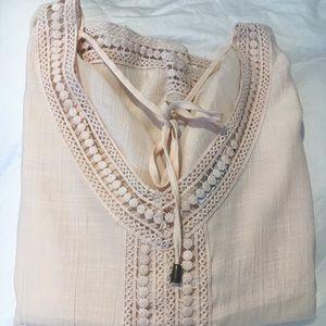 Dex V-Neck Summer Top with Crochet